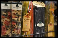 Pasta in diverse colours and shapes