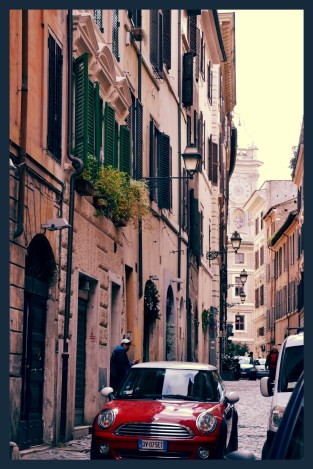 """A tyical alley with a """"Mini"""""""