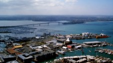 360° view from the Sky Tower in Auckland/New Zealand - Harbour Bridge