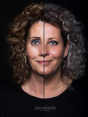 2 in 1 Portret zussen