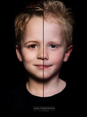 Twee gezichten in een foto | 2 broertjes 2in1 portret