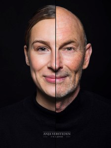 Two faces in one photo