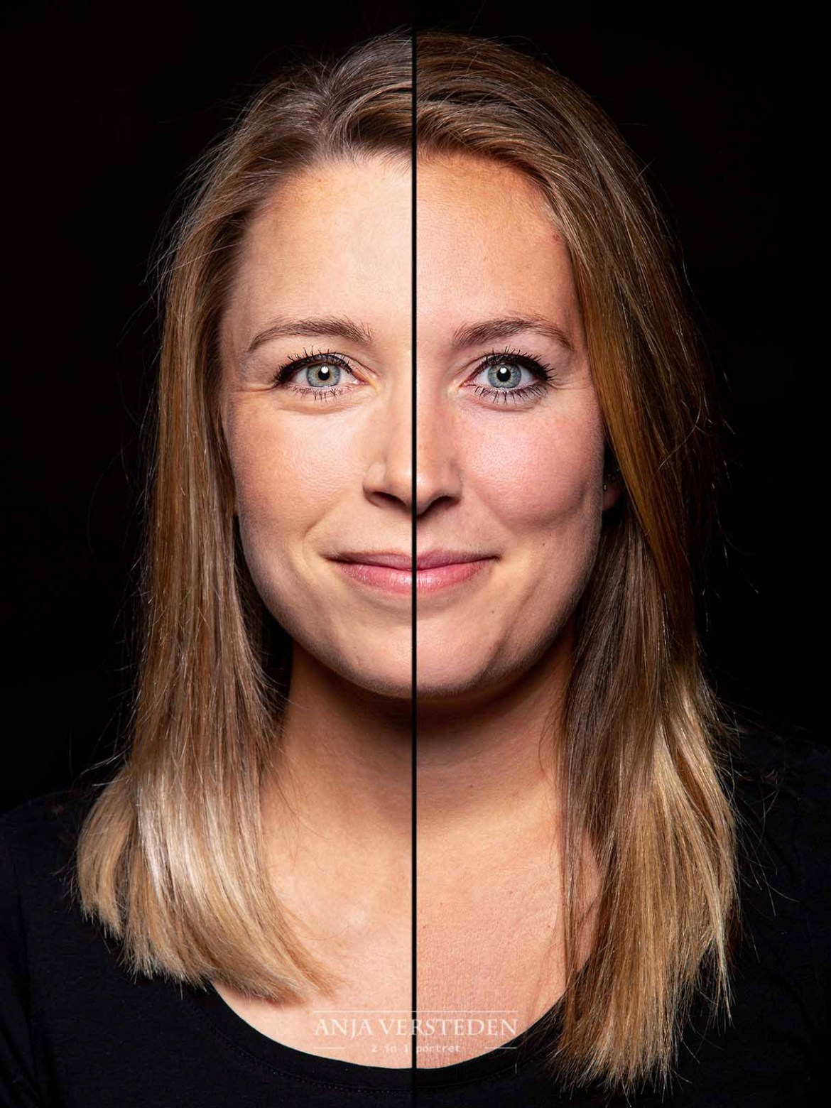 Splitfoto | Splitface zusjes fotografie