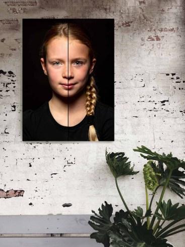 Duoportret aan de muur