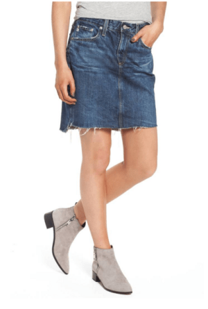 6e3d1456f0 Speaking of styles coming back into fashion… the denim skirt is becoming  quite popular once again. Admittedly, when I first saw this look as I paged  through ...