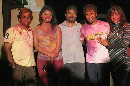 Holi on the sets of Daag