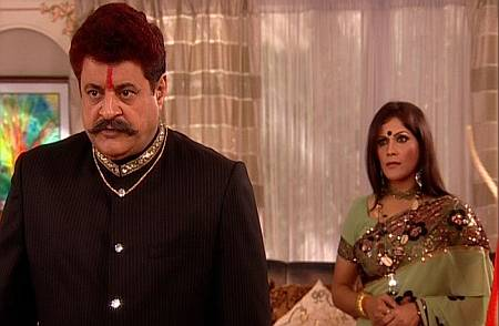 Gajendra Chauhan and Upasana Singh in Senhur on Mahuaa TV