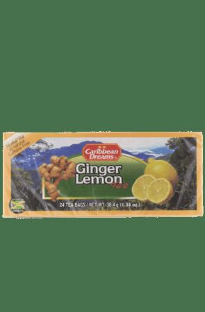 Caribbean Dreams Ginger Lemon Tea (pack of 24 tea bags)   Caffeine Free