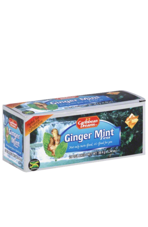 Caribbean Dreams Ginger Mint Tea (24 pack)   Caffeine Free