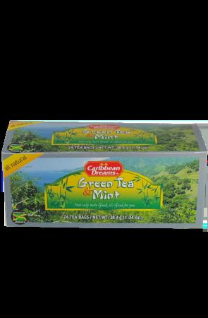 Caribbean Dreams Green Tea & Mint (pack of 24 tea bags)   Caffeine Free
