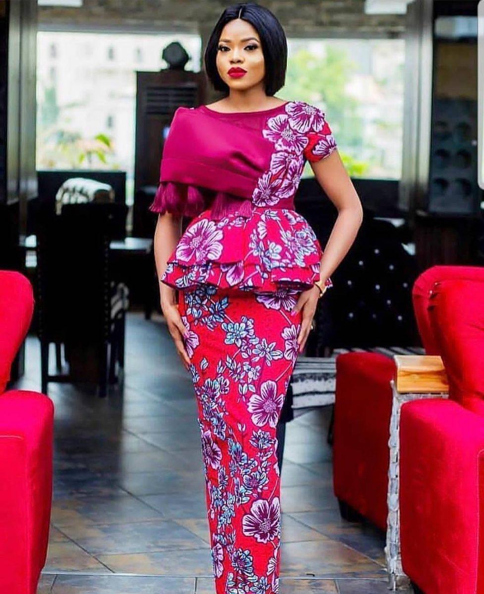 Ankara Skirt and Blouse for Weddings 2020/ 2021