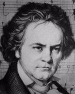 Karakalem Ludwig van Beethoven portre çizimi
