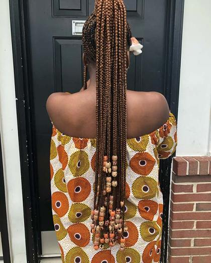 Braided ponytails for African American women