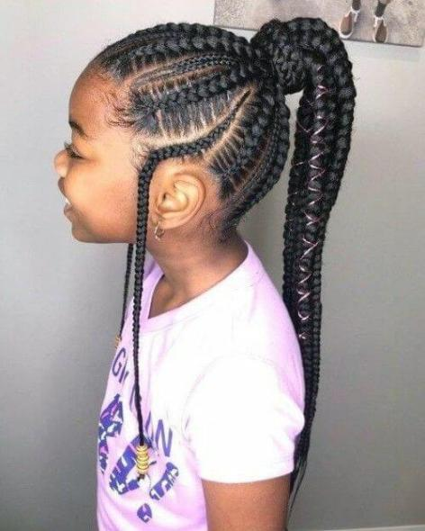 Remarkable 35 Best Ghana Braids Hairstyles For Kids With Tutorial 2020 Natural Hairstyles Runnerswayorg
