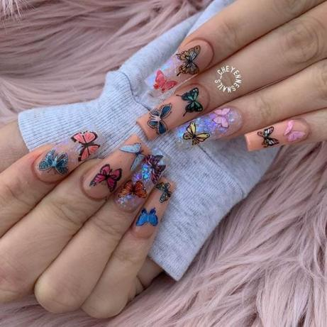butterfly nail art with ways to do manicure