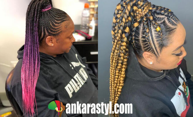 35 Best Feed In Braids Styles Ponytails For African Ladies
