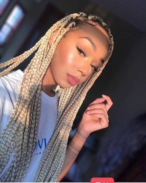Honey Blonde Goddess Box Braids