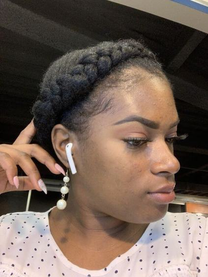 Halo Braid Style On Natural Hair