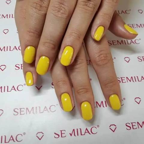 Anything Yellow Acrylic Nails
