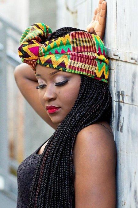 39 Lovely Small Box Braids Ponytails 2020 for Black Girls