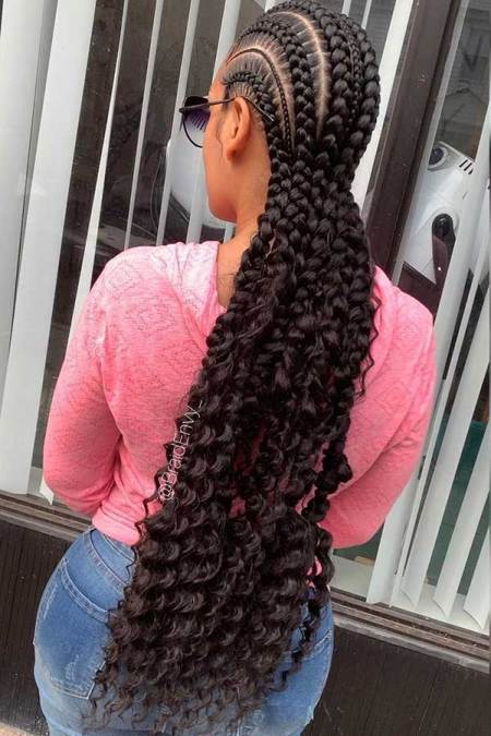 Long Bohemian Feed in Braids Ponytails To Rock In 2021