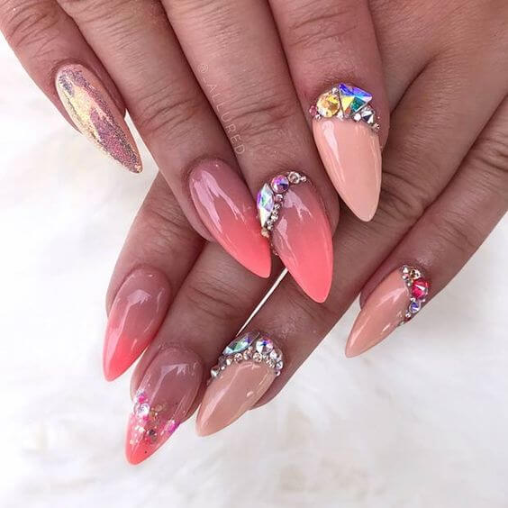 23+ Trendy Short Pointy Nails With Best Ways to Rock in 2021