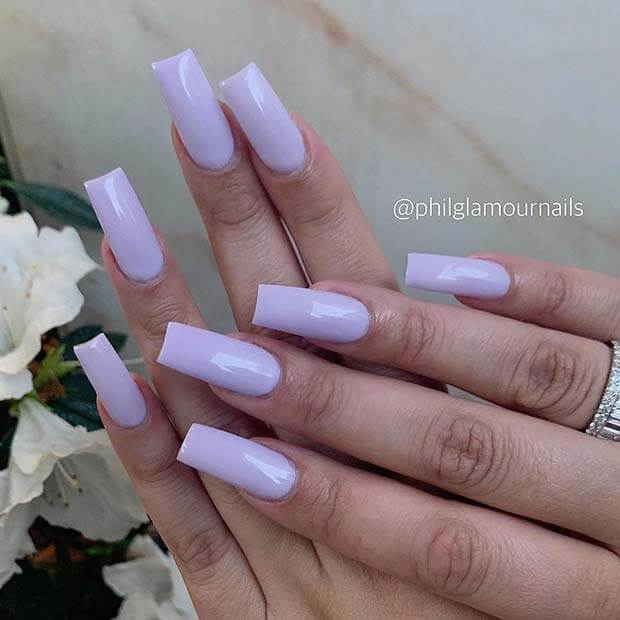 Tapered square nail shape