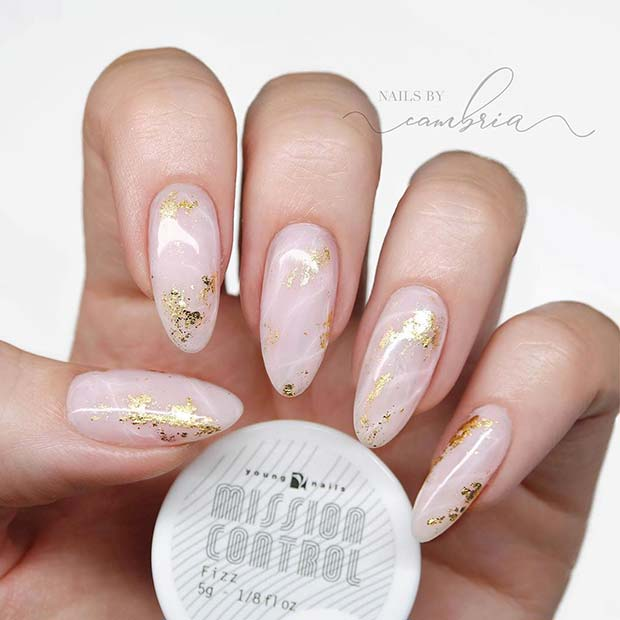 Stunning Almond Shape Nail Design