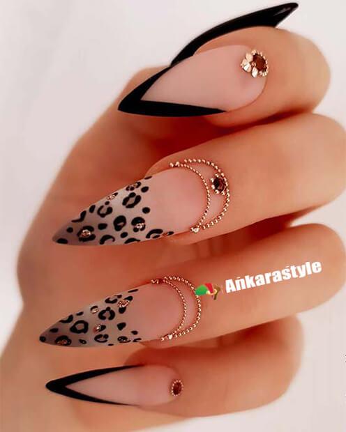 Leopard or Cheetah Nails