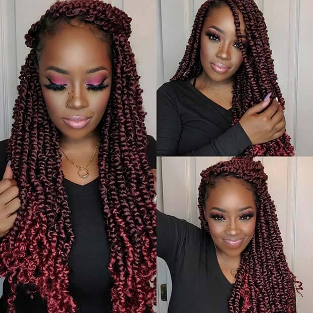 23 Best Passion Twist Braids Hairstyles To Wear Next Events