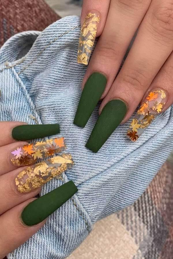 Olive Botanical Nails