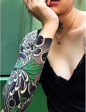 Full Feminine tattoo sleeves