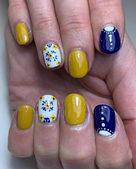 Mustard Nail Designs