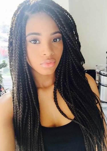 5. Medium Box braids on white girls