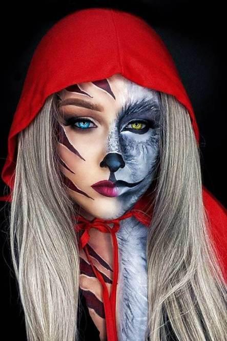 22 Best Half Face Halloween Makeup Tutorial For Beginners In 2020