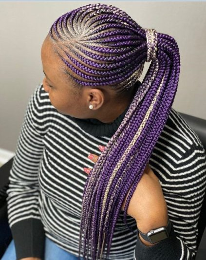 Purple Lemonade Braids.