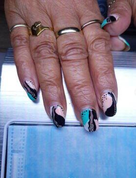 Black Natural nails