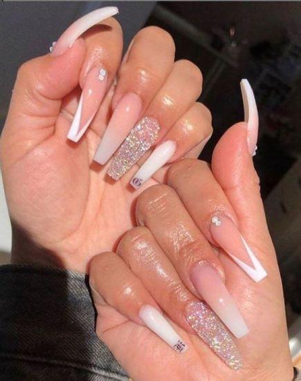 Glitzy Acrylic Nails