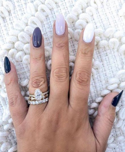 Gradient Coffin Acrylic Nails