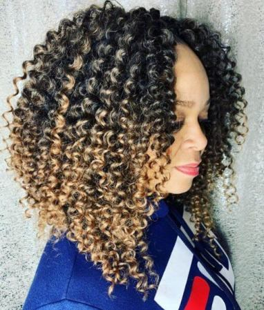 Cute Crochet Curls with Ombre.