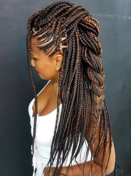 Yarn Braids Cornrows