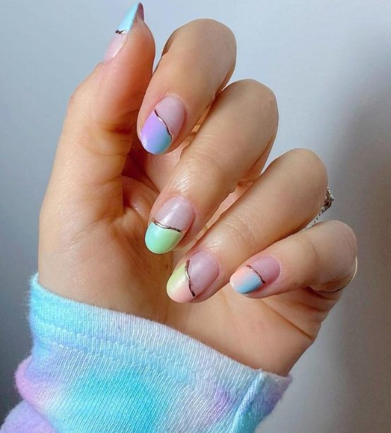Colorful Ombre nail