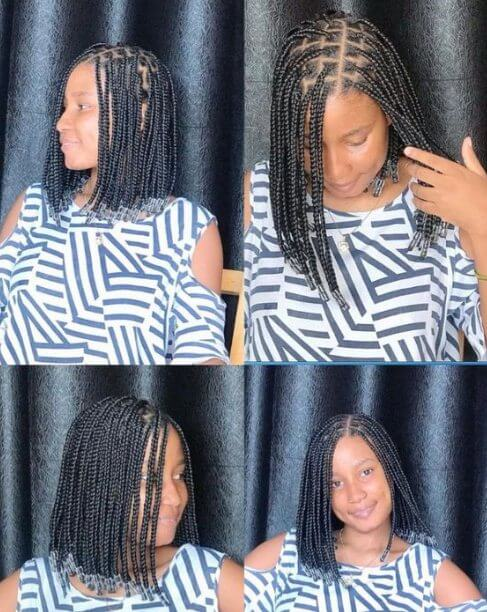Stunning Small Knotless Braids