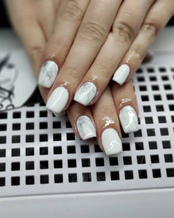 Matte White Fake Nails