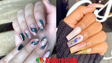 23 Cute Foil Nail Art Designs 2021 to Wear Now