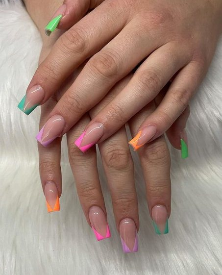 Colorful St Patrick's Day Nails