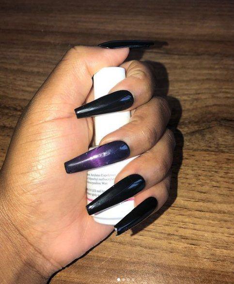 Cute Black Nail Art