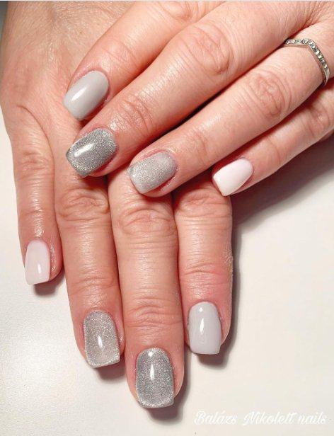 3. Glitzy Manicure with Rhinestones