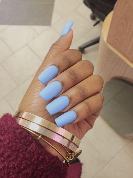 Matte Spring Nails