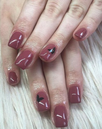 20. Oval Nails With Butterfly Art
